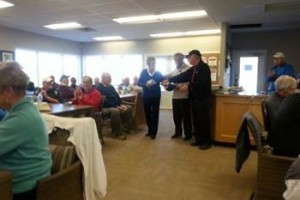 November's prize ceremony for the Monthly Senior scramble