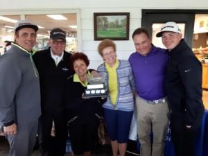 Winning team of the 2018 Alzheimer Society Golf Tournament