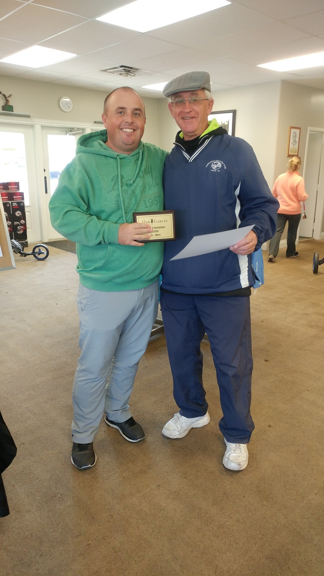 Congrats to Ray Czerwonka 2018 Senior Club Champion